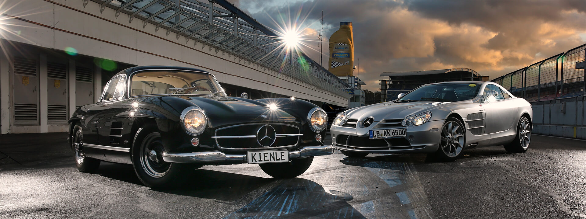 Mercedes 300 SL and Mercedes SLR