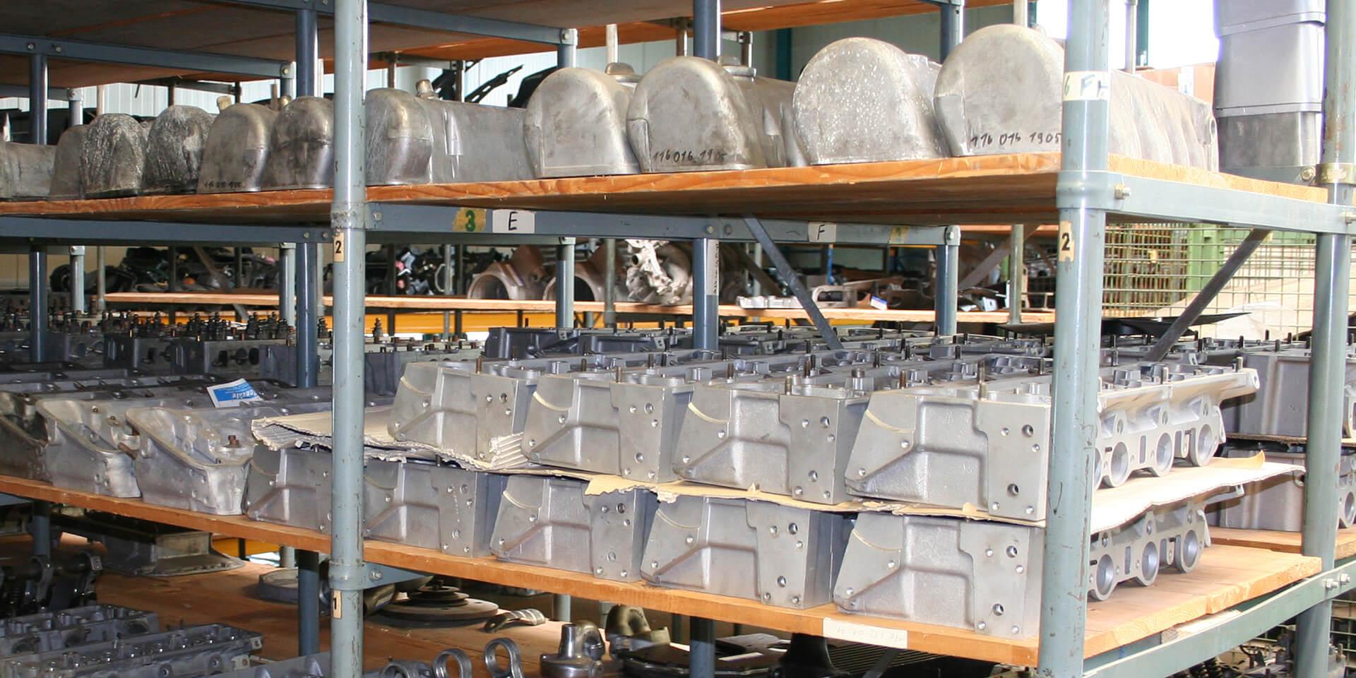 Vintage Mercedes cars – the Kienle replacement parts warehouse
