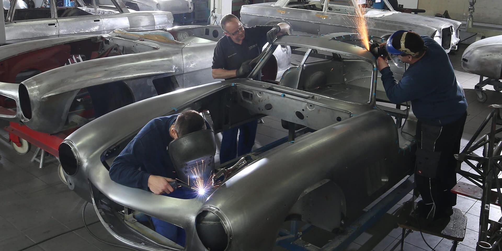 Mercedes 300 SL – welding bodywork
