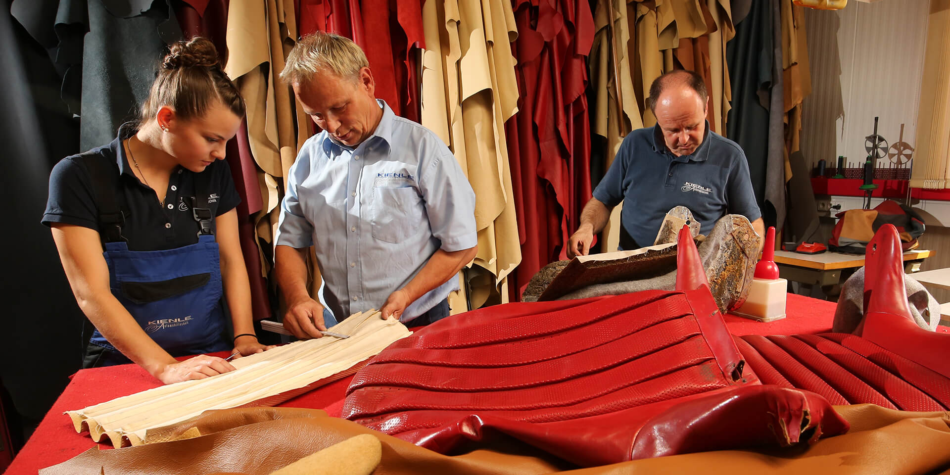 The best leather for your vintage Mercedes car – the Kienle upholstery department