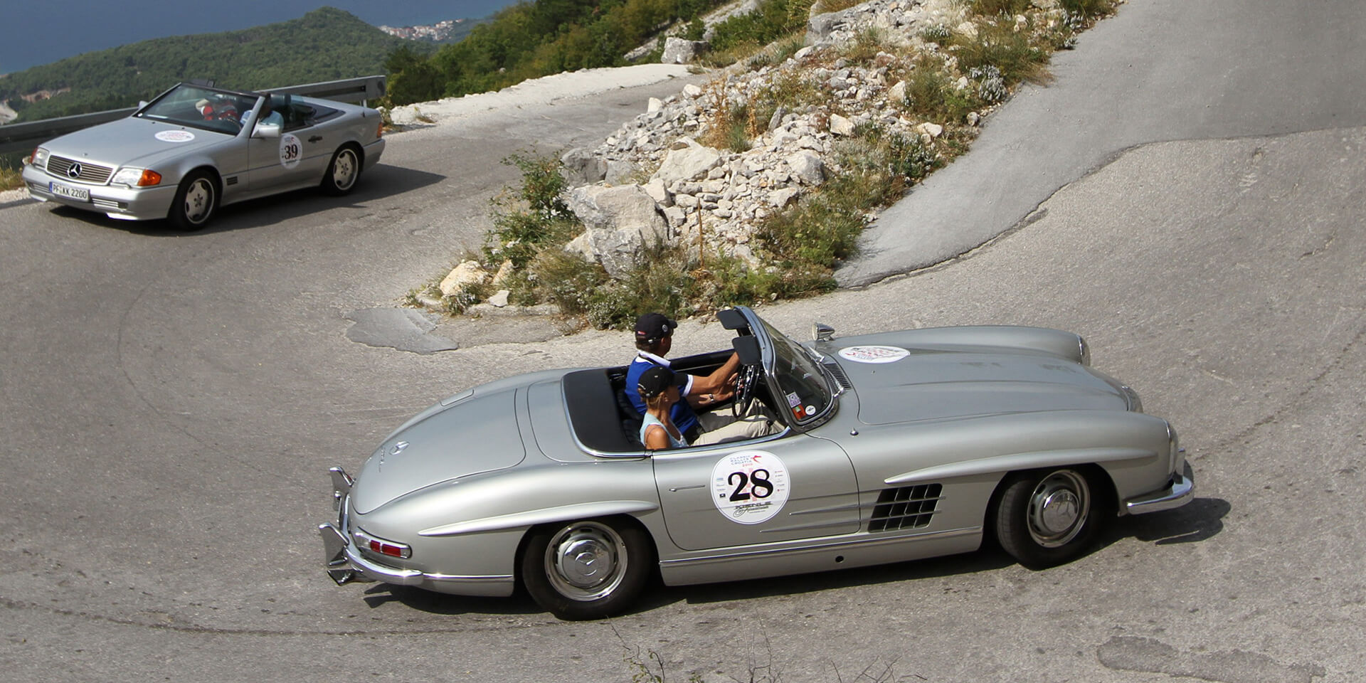 Mercedes 300 SL roadster at the Mille Miglia