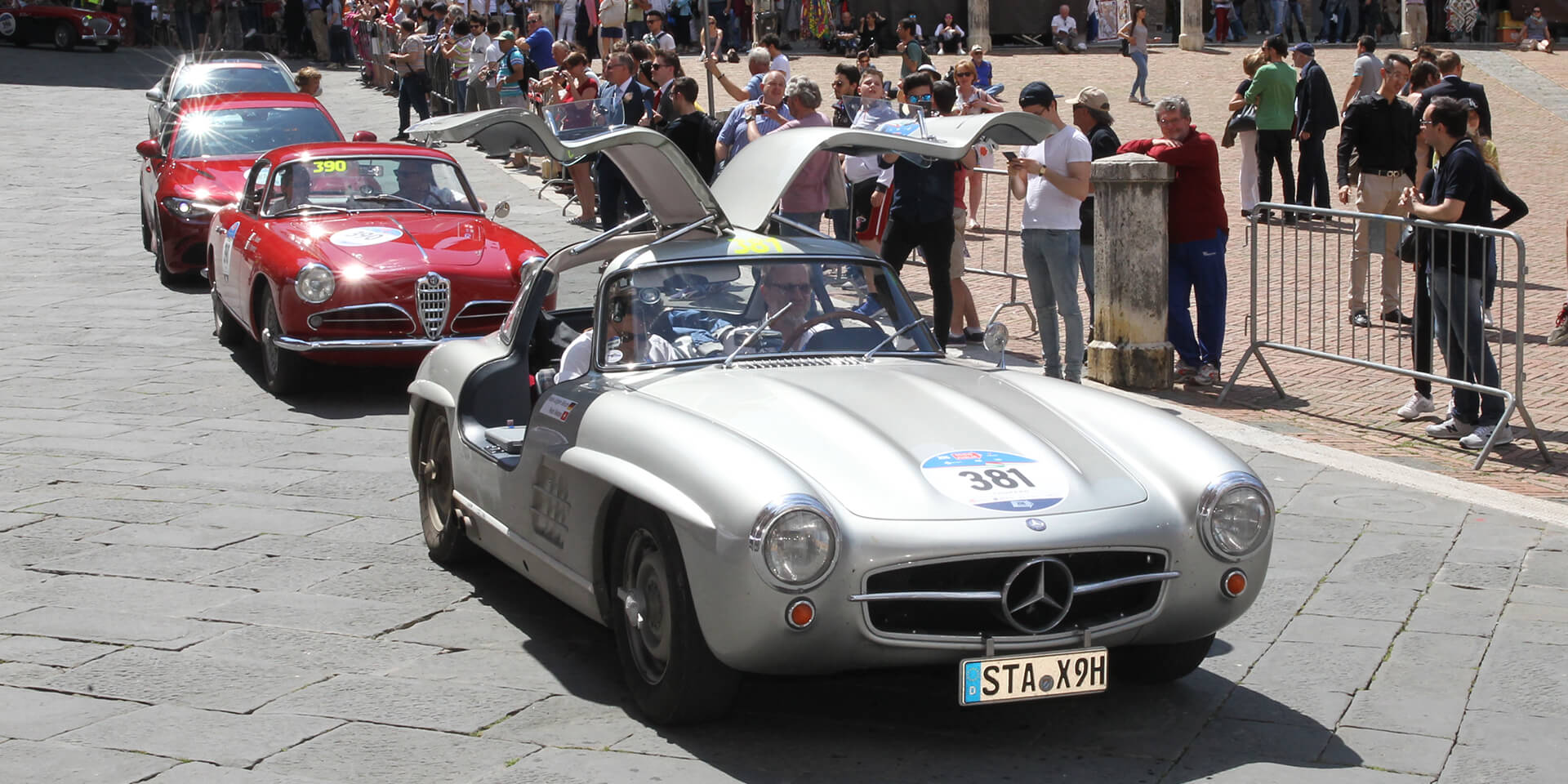 Mercedes 300 Sl at the Mille Miglia